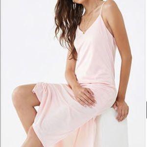 Pink Cami Midi Dress